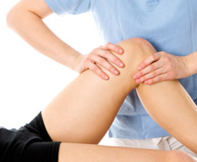 Physiotherapist providing treatment